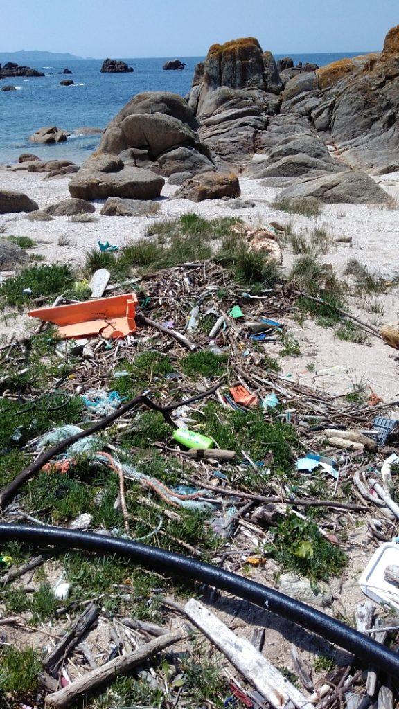 Contaminación de plásticos en las playas